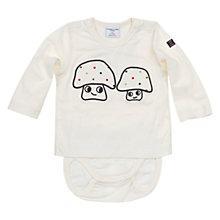 Buy Polarn O. Pyret Baby's Mushroom Bodysuit, White Online at johnlewis.com
