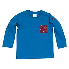 Buy Polarn O. Pyret Baby's Star Pocket Top, Blue Online at johnlewis.com
