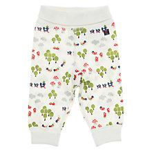 Buy Polarn O. Pyret Woodland Print Trousers, White Online at johnlewis.com