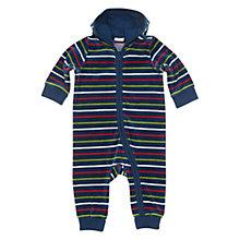 Buy Polarn O. Pyret Striped Hooded Baby Grow, Blue/Multi Online at johnlewis.com