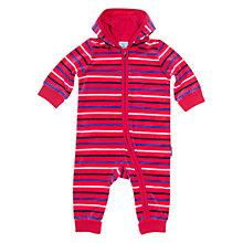 Buy Polarn O. Pyret Stripe Hooded Baby Grow, Pink/Multi Online at johnlewis.com