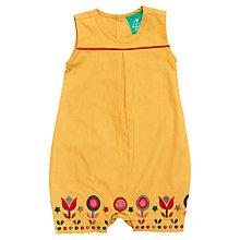 Buy Little Green Radicals Embroidered Playsuit, Yellow Online at johnlewis.com