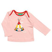 Buy Little Green Radicals Long Sleeve Teepee T-Shirt, Pink Online at johnlewis.com