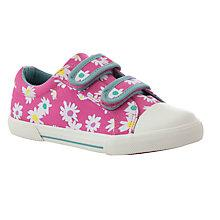 Buy John Lewis Girls' Ellie Daisy Print Canvas Shoes, Pink/Multi Online at johnlewis.com