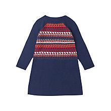 Buy Jigsaw Junior Girls' Pattern Front Knit Dress, Blue/Multi Online at johnlewis.com