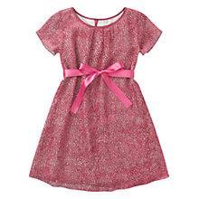Buy Jigsaw Junior Girls' Velvet Spot Dress, Red Online at johnlewis.com