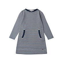 Buy Jigsaw Junior Girls' Stripe Jersey Dress, Navy Online at johnlewis.com