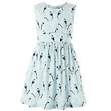 Buy John Lewis Girl Lace Bird Dress, Aqua Online at johnlewis.com