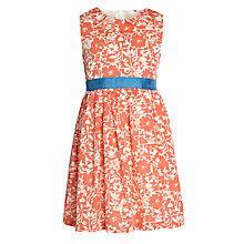 Buy John Lewis Girl Floral Sash Dress, Coral Online at johnlewis.com