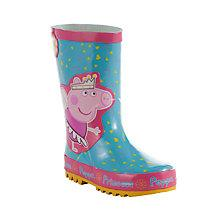 Buy John Lewis Peppa Pig Fairy Wellington Boots, Blue/Pink Online at johnlewis.com