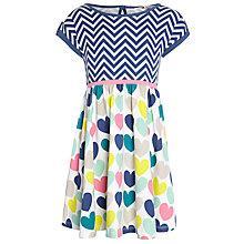 Buy John Lewis Girl Chevron & Heart Dress, Multi Online at johnlewis.com