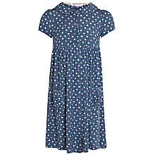 Buy John Lewis Girl Cherry Jersey Dress, Blue Online at johnlewis.com