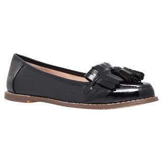 Buy Carvela Maggie Fringe and Tassle Detail Loafers, Black Online at johnlewis.com
