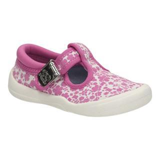 Buy Clarks Children's Briley Canvas Shoes, Pink/Cream Online at johnlewis.com