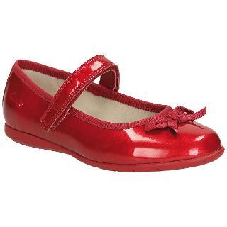 Buy Clarks Children's Dance Shine Shoes, Red Online at johnlewis.com