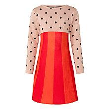 Buy Donna Wilson for John Lewis Girls' Spot and Stripe Dress, Red/Multi Online at johnlewis.com