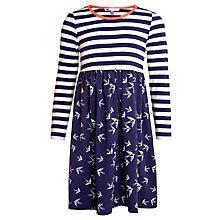 Buy John Lewis Girl Swallow Print Stripe Dress Online at johnlewis.com