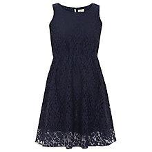 Buy Yumi Girl Sleeveless Lace Dress, Navy Online at johnlewis.com