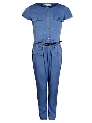 Buy John Lewis Girl Short Sleeve Jumpsuit, Navy Online at johnlewis.com