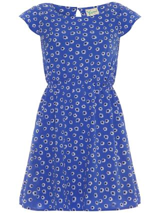 Buy Yumi Girl Daisy Print Dress, Blue Online at johnlewis.com