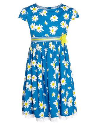 Buy John Lewis Girl Daisy Dress, Blue Online at johnlewis.com