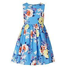 Buy John Lewis Girl Floral Print Sleeveless Dress, Blue/Multi Online at johnlewis.com
