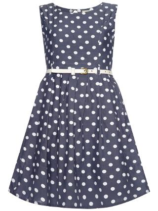 Buy Yumi Girl Chambray Spot Dress, Chambray Online at johnlewis.com