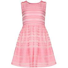 Buy Yumi Girl Textured Jacquard Dress, Pink Online at johnlewis.com