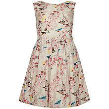 Buy Yumi Girl Easter Bird Print Dress, Beige/Multi Online at johnlewis.com
