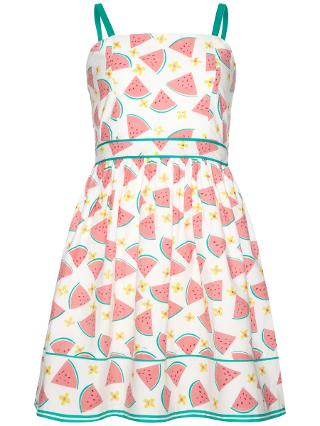 Buy Yumi Girl Watermelon Print Dress, White/Pink Online at johnlewis.com