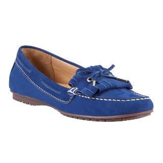 Buy John Lewis Milan Nubuck Fringe and Bow Detail Loafers Online at johnlewis.com