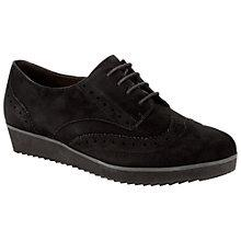 Buy Clarks Compass Realm Suede Brogues, Black Online at johnlewis.com