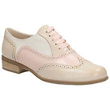 Buy Clarks Hamble Oak Leather Brogues, Dusty Pink Online at johnlewis.com