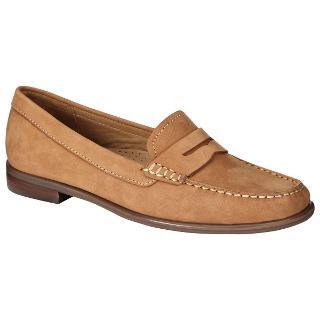 Buy John Lewis Penny Nubuck Loafers, Tan Online at johnlewis.com