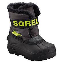Buy Sorel Snow Commander Boots, Black/Lime Online at johnlewis.com