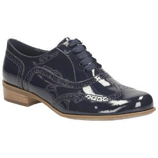 Buy Clarks Hamble Oak Leather Wingtip Brogues, Navy Online at johnlewis.com