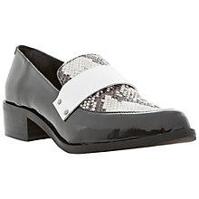 Buy Bertie Lannister Leather Pointed Toe Penny Loafers, Neutral Online at johnlewis.com