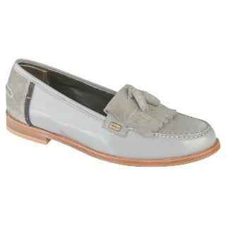 Buy Barbour Amber Fringe Leather Loafers, Grey Online at johnlewis.com