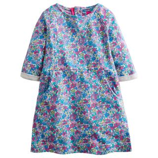 Buy Little Joule Girls' Betsy Floral Dress, Purple Online at johnlewis.com