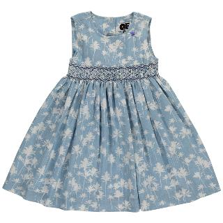 Buy Question Everything Girls' Natasha Hand Smocked Dress, Blue Online at johnlewis.com