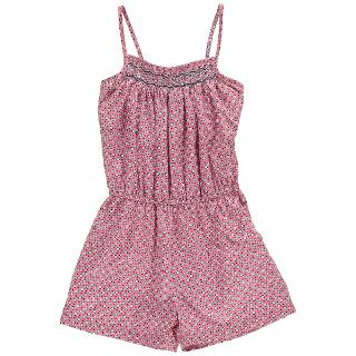 Buy Question Everything Girls' Isabelle Hand-Smocked Playsuit, Pink Online at johnlewis.com