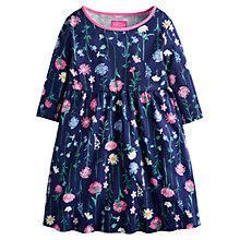 Buy Little Joule Girls' Ella Floral Print Jersey Dress, Navy/Multi Online at johnlewis.com