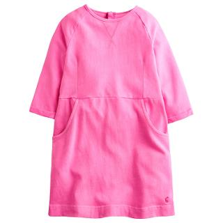 Buy Little Joule Girls' Neon Betsy Dress, Pink Online at johnlewis.com