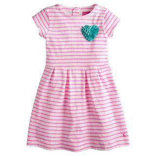 Buy Little Joule Girls' Lara Striped Dress, Pink Online at johnlewis.com