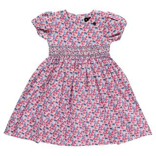 Buy Question Everything Girls' Crazy Bear Hand Smocked Dress, Pink/Blue Online at johnlewis.com