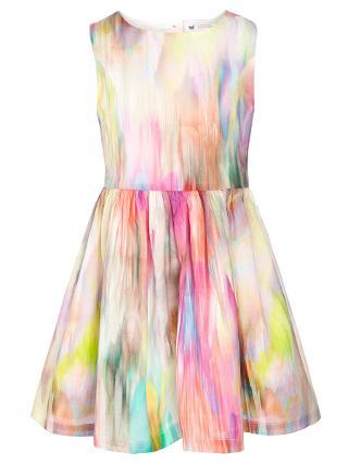 Buy John Lewis Girl Fluroscent Blur Dress, Multi Online at johnlewis.com