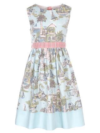 Buy John Lewis Girl Boat Scene Prom Dress, Aqua Online at johnlewis.com