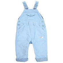 Buy John Lewis Baby Corduroy Stripe Dungarees, Blue Online at johnlewis.com