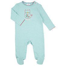 Buy John Lewis Baby Little Owl Sleepsuit, Aqua Online at johnlewis.com