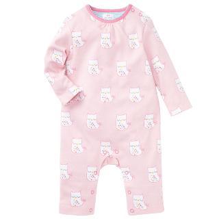 Buy John Lewis Owl Sleepsuit, Pink Online at johnlewis.com